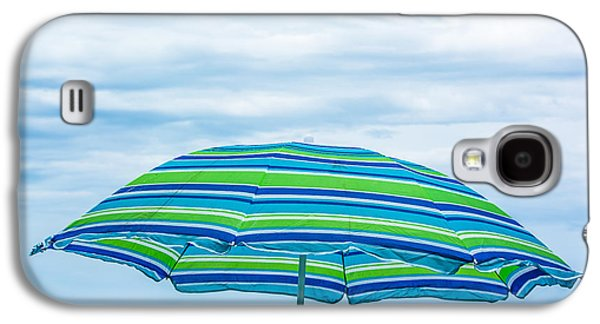 Splashy Photographs Galaxy S4 Cases - Stripes on the Beach Galaxy S4 Case by Shelby  Young