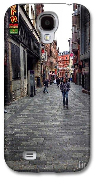 Beatles Galaxy S4 Cases - Strolling Along Mathew Street Galaxy S4 Case by Joan-Violet Stretch