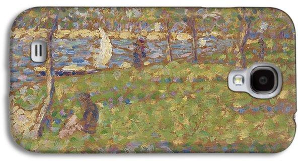 Study For La Grande Jatte Galaxy S4 Case by Georges Pierre Seurat