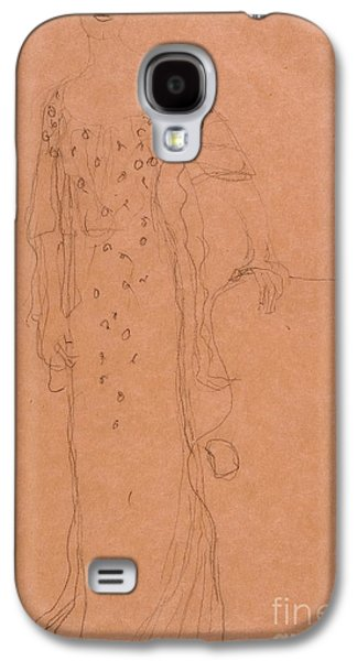 Adele Paintings Galaxy S4 Cases - Study for Portrait of Adele Bloch-Bauer I Galaxy S4 Case by Celestial Images