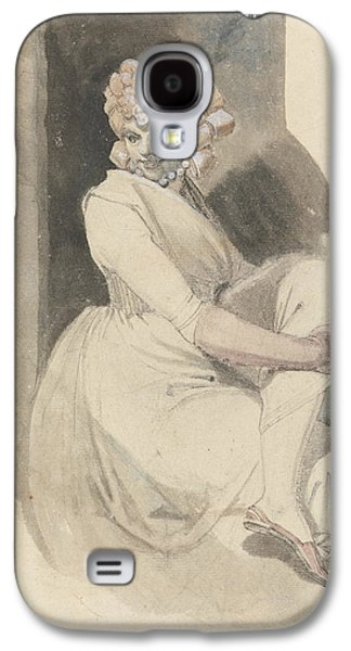 Swiss Drawings Galaxy S4 Cases - Study of a Seated Woman Galaxy S4 Case by Henry Fuseli