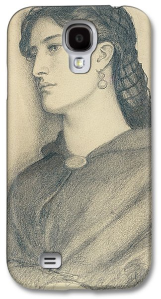 Drawing Galaxy S4 Cases - Study of Aggie Manetti  Galaxy S4 Case by Dante Gabriel Charles Rossetti