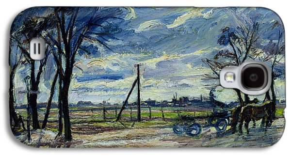 Suburban Landscape In Spring  Galaxy S4 Case by Waldemar Rosler