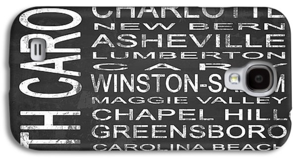 Charlotte Mixed Media Galaxy S4 Cases - SUBWAY North Carolina State Square Galaxy S4 Case by Melissa Smith