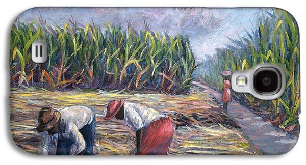 Sugarcane Harvest Galaxy S4 Case by Carlton Murrell