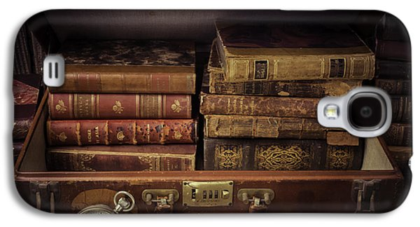 Collect Galaxy S4 Cases - Suitcase Full Of Books Galaxy S4 Case by Garry Gay