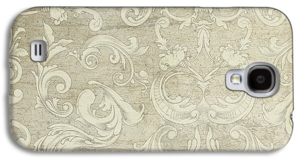 Upscale Galaxy S4 Cases - Summer at the Cottage - Vintage Style Wooden Scroll Flourishes Galaxy S4 Case by Audrey Jeanne Roberts