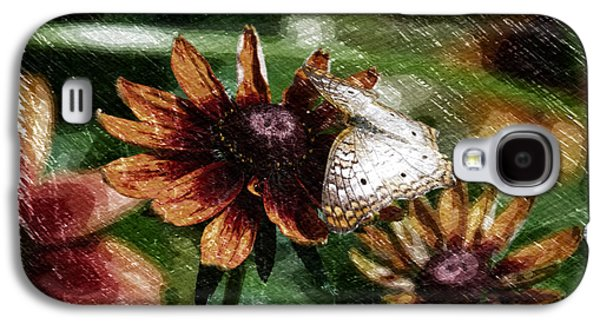 Abstract Digital Mixed Media Galaxy S4 Cases - Summer Floral With Butterfly PA 02 Galaxy S4 Case by Thomas Woolworth