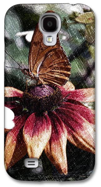 Abstract Digital Mixed Media Galaxy S4 Cases - Summer Floral With Butterfly PA 06 Vertical  Galaxy S4 Case by Thomas Woolworth