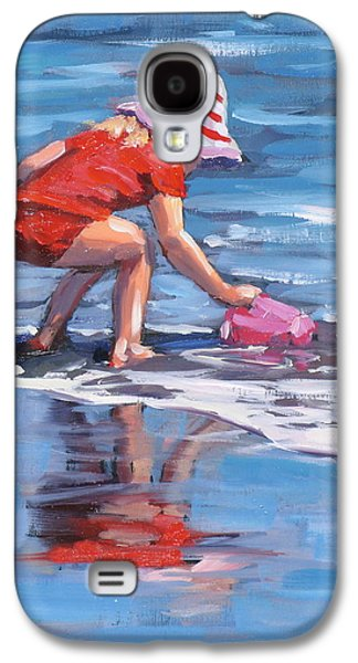 Cape Cod Paintings Galaxy S4 Cases - Summer Fun Galaxy S4 Case by Laura Lee Zanghetti