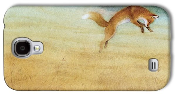 Summer Gold Fox Galaxy S4 Case by Tracy Herrmann