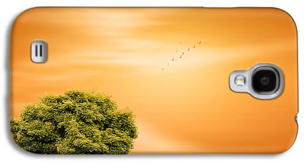 Green And Yellow Galaxy S4 Cases - Summer Galaxy S4 Case by Lourry Legarde
