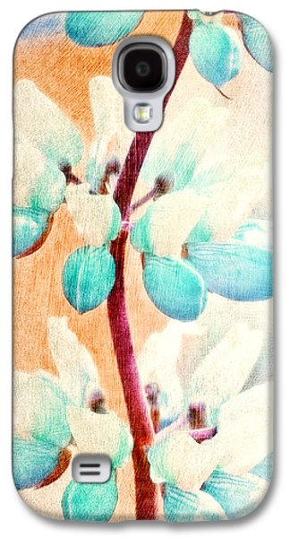 Abstract Digital Paintings Galaxy S4 Cases - Summer Lupine Galaxy S4 Case by Bonnie Bruno