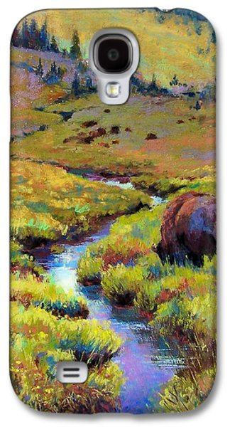 Bison Pastels Galaxy S4 Cases - Summer Pastures Galaxy S4 Case by Christine  Camilleri