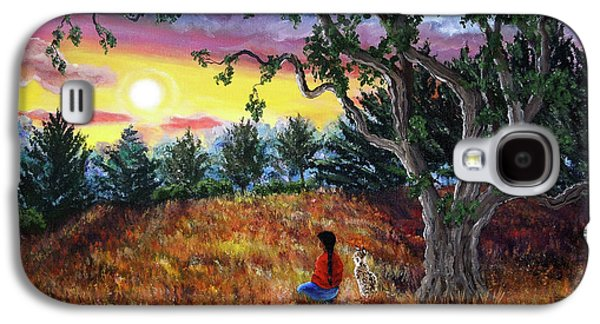 Bobcats Galaxy S4 Cases - Summer Sunset Meditation Galaxy S4 Case by Laura Iverson