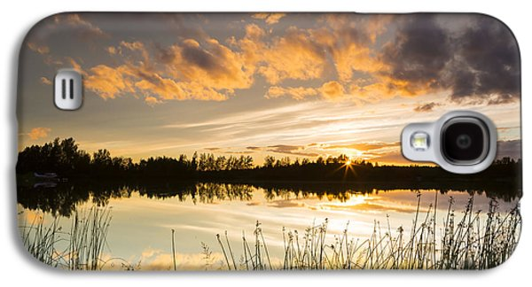 Trees Reflecting In Water Galaxy S4 Cases - Summer Sunset Over Six Mile Lake Galaxy S4 Case by Michael DeYoung