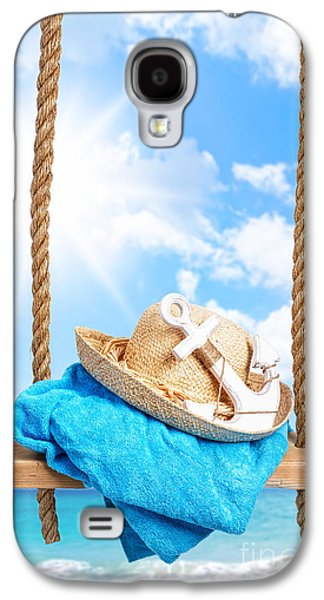 Beach Towel Galaxy S4 Cases - Summer Swing Galaxy S4 Case by Amanda And Christopher Elwell