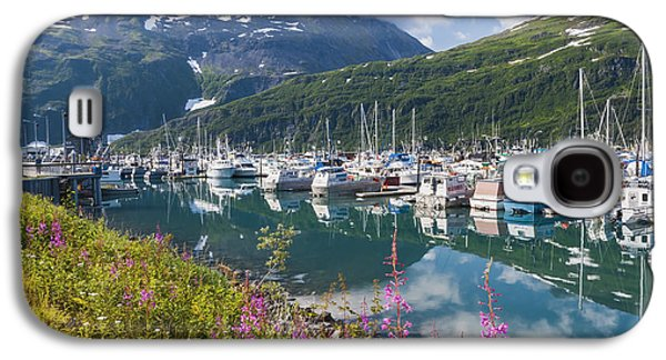 Boats In Reflecting Water Galaxy S4 Cases - Summer View Of Whittier Boat Harbor Galaxy S4 Case by Michael DeYoung