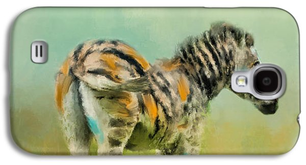 Abstracted Galaxy S4 Cases - Summer Zebra 1 Galaxy S4 Case by Jai Johnson