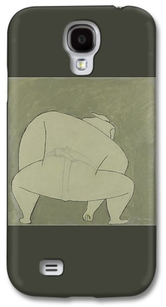 Abstract Forms Galaxy S4 Cases - Sumo Wrestler Galaxy S4 Case by Ben Gertsberg