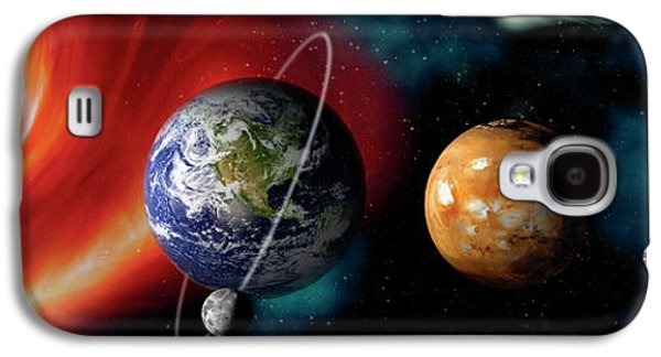 Sun And Planets Galaxy S4 Case by Panoramic Images