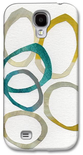Abstracted Galaxy S4 Cases - Sun and Sky- abstract art Galaxy S4 Case by Linda Woods