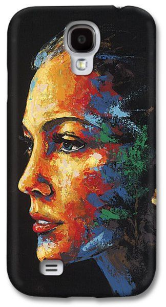 Sun Rays Paintings Galaxy S4 Cases - Sun Kissed - with hidden pictures Galaxy S4 Case by Konni Jensen