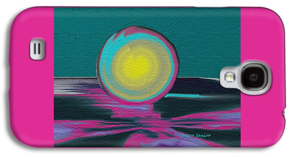 Nature Abstracts Galaxy S4 Cases - Sun Melting into Ocean Galaxy S4 Case by Lenore Senior