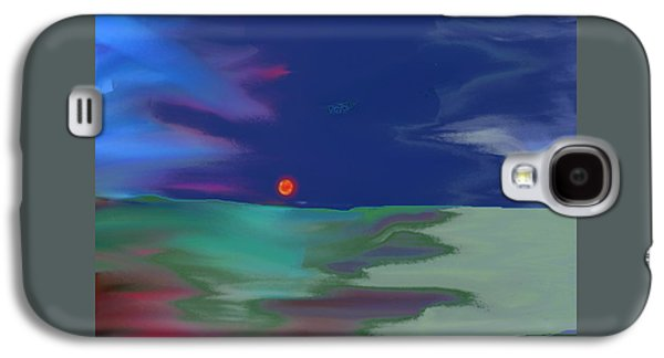 Nature Abstracts Galaxy S4 Cases - Sun on the Horizon Galaxy S4 Case by Lenore Senior