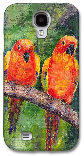 Sun Parakeets Galaxy S4 Case by Arline Wagner
