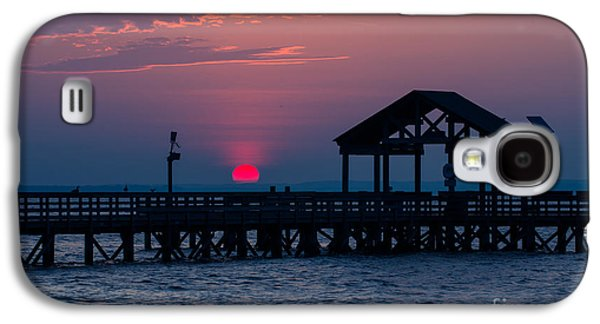 Beach Landscape Galaxy S4 Cases - Sun Peeking over Pier 3 Galaxy S4 Case by Alexander Butler