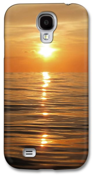 Sparkling Galaxy S4 Cases - Sun setting over calm waters Galaxy S4 Case by Nicklas Gustafsson