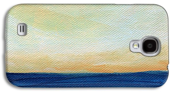 Beach Landscape Mixed Media Galaxy S4 Cases - Sun Swept Coast- abstract seascape Galaxy S4 Case by Linda Woods