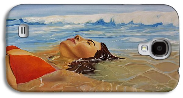 Beach Landscape Galaxy S4 Cases - Sunbather Galaxy S4 Case by Crimson Shults