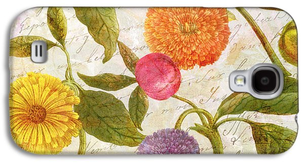 Botanical Galaxy S4 Cases - Sunbathers Botanical I Galaxy S4 Case by Mindy Sommers
