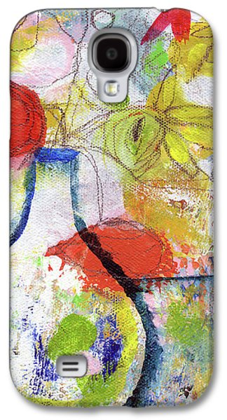Sunday Market Flowers- Art By Linda Woods Galaxy S4 Case by Linda Woods