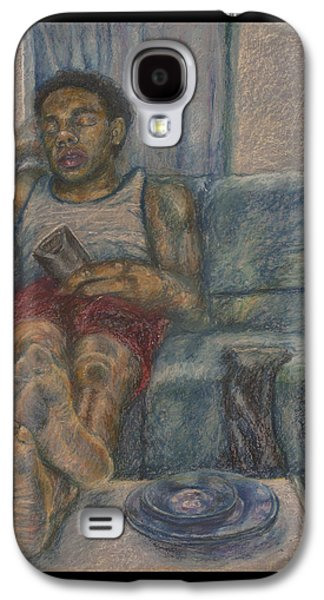 Book Pastels Galaxy S4 Cases - Sunday Sloth Galaxy S4 Case by Paul Michael Wright