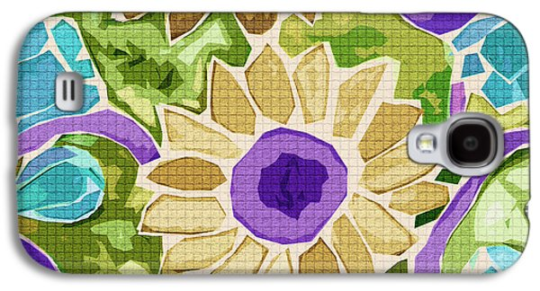 Digital Tapestries - Textiles Galaxy S4 Cases - Sunflower Gold Galaxy S4 Case by FabricWorks Studio