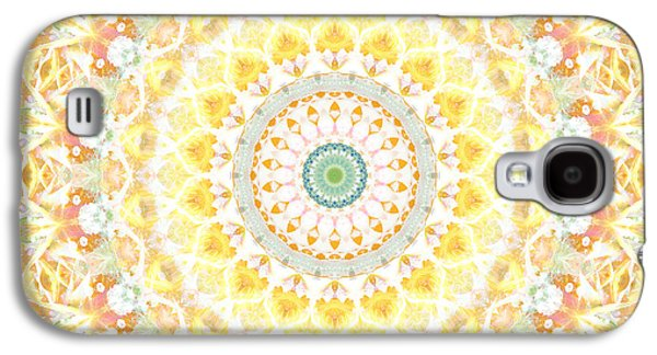 Sunflower Mandala- Abstract Art By Linda Woods Galaxy S4 Case by Linda Woods