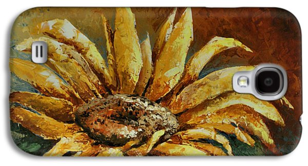 Pallet Knife Galaxy S4 Cases - Sunflower study Galaxy S4 Case by Michael Lang