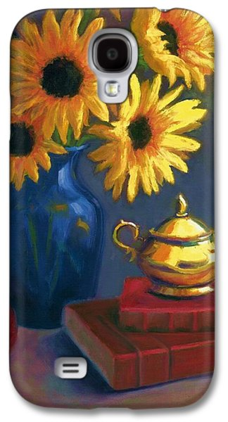 Best Sellers -  - Janet King Galaxy S4 Cases - Sunflowers and Sugar Bowl Galaxy S4 Case by Janet King