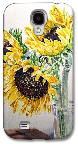 Christmas Greeting Galaxy S4 Cases - Sunflowers Galaxy S4 Case by Irina Sztukowski