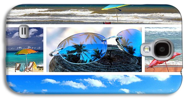 Reflection Of Sun In Clouds Galaxy S4 Cases - Sunglasses needed in Paradise Galaxy S4 Case by Susanne Van Hulst