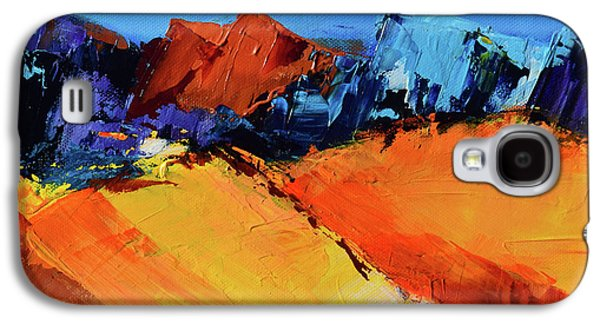 Nature Abstract Galaxy S4 Cases - Sunlight in the Valley Galaxy S4 Case by Elise Palmigiani