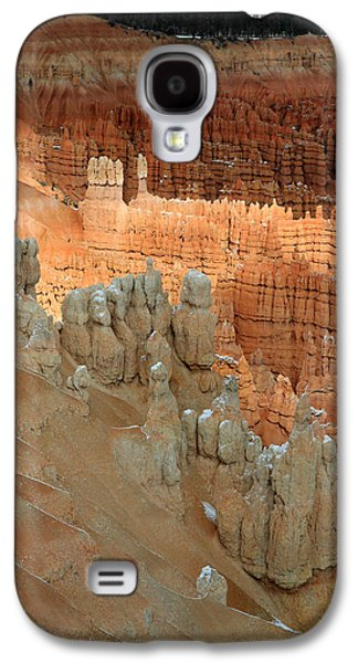 Colum Galaxy S4 Cases - Sunlight on the hoodoos in Bryce Canyon Galaxy S4 Case by Pierre Leclerc Photography
