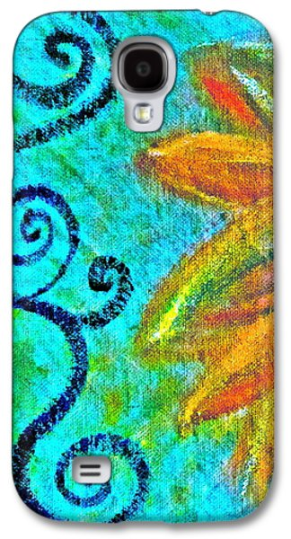 Sunny Mixed Media Galaxy S4 Cases - Sunny day yellow Galaxy S4 Case by Gwyn Newcombe