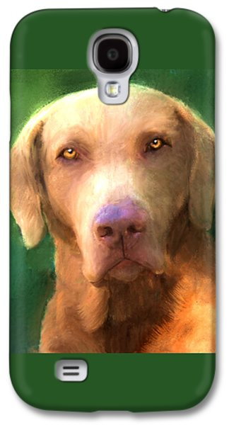 Dogs Digital Art Galaxy S4 Cases - Sunny Dog Galaxy S4 Case by Tim Tompkins