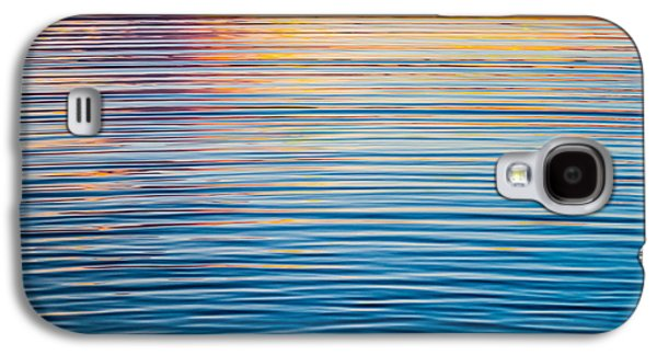 Sunset Abstract Galaxy S4 Cases - Sunrise Abstract On Calm Waters Galaxy S4 Case by Parker Cunningham