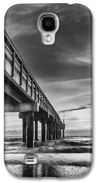 Waterscape Galaxy S4 Cases - Sunrise At The Pier-BW Galaxy S4 Case by Marvin Spates