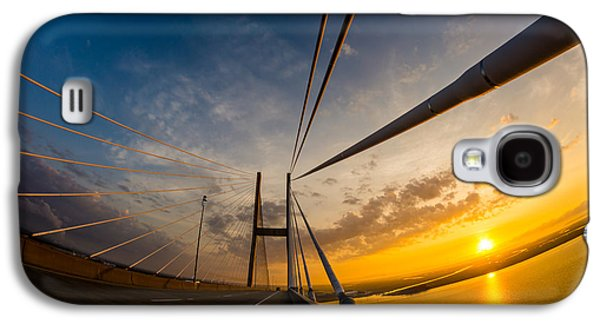 Island Stays Galaxy S4 Cases - Sunrise Between the Cables Galaxy S4 Case by Chris Bordeleau